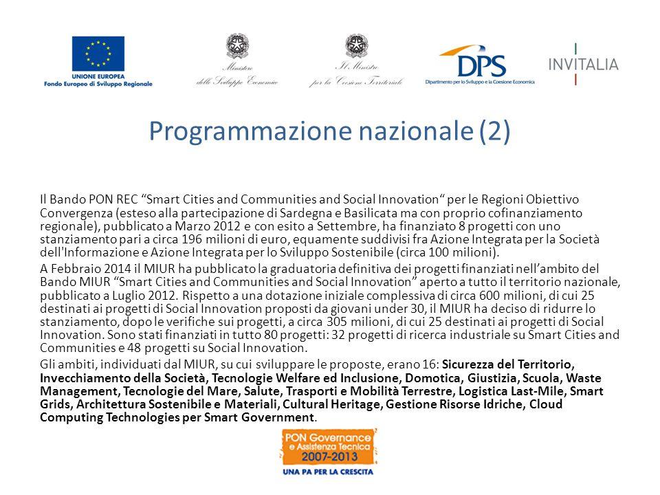 Programmazione nazionale (2)