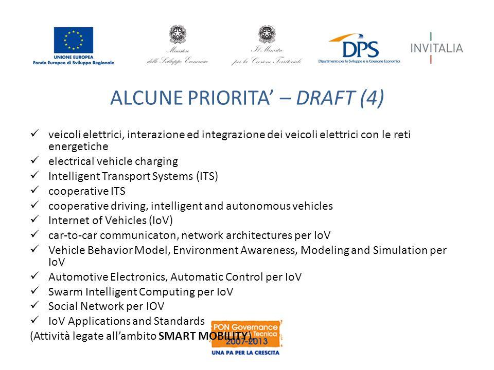 ALCUNE PRIORITA' – DRAFT (4)