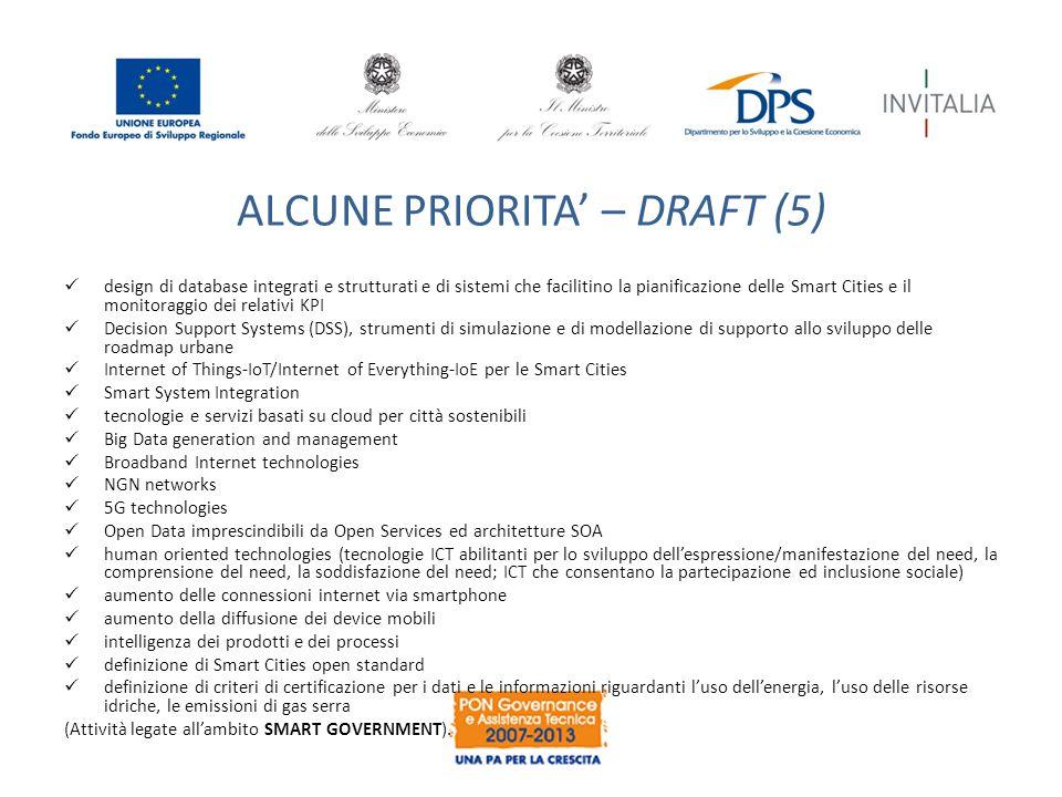 ALCUNE PRIORITA' – DRAFT (5)