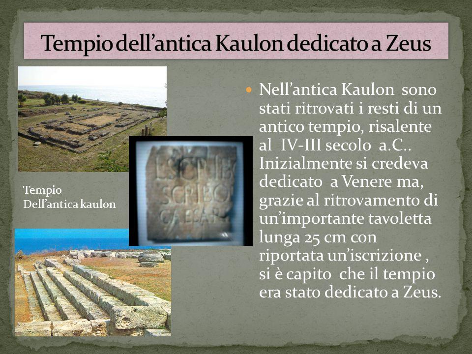 Tempio dell'antica Kaulon dedicato a Zeus
