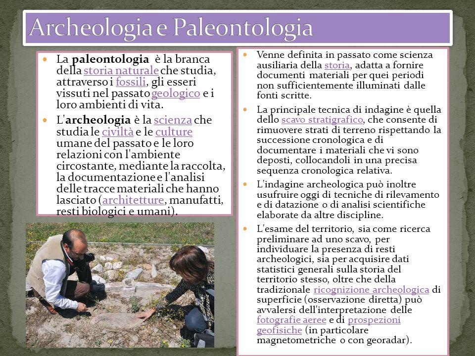 Archeologia e Paleontologia