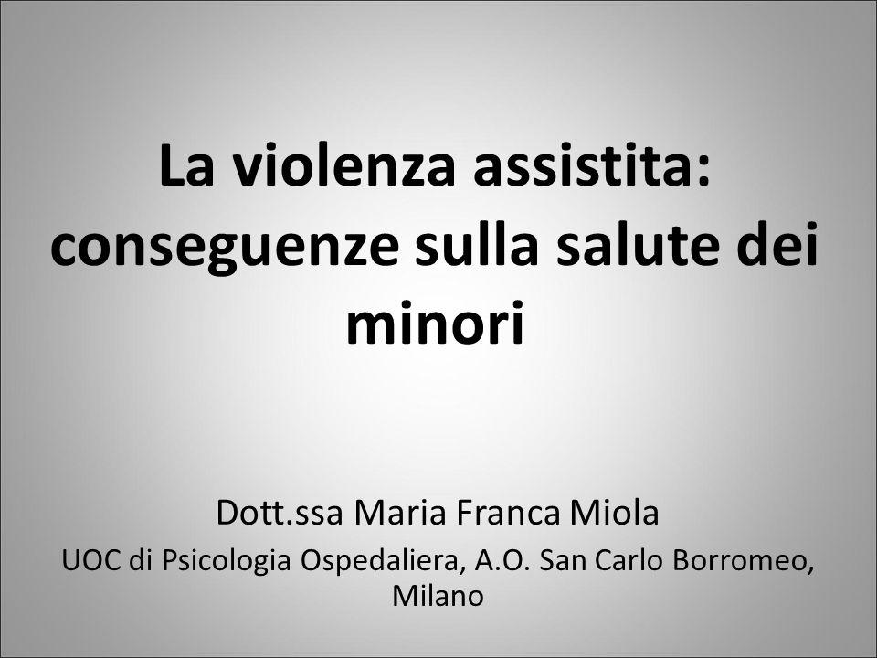 La violenza assistita: conseguenze sulla salute dei minori