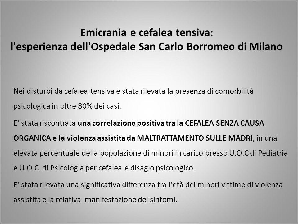 Emicrania e cefalea tensiva: l esperienza dell Ospedale San Carlo Borromeo di Milano
