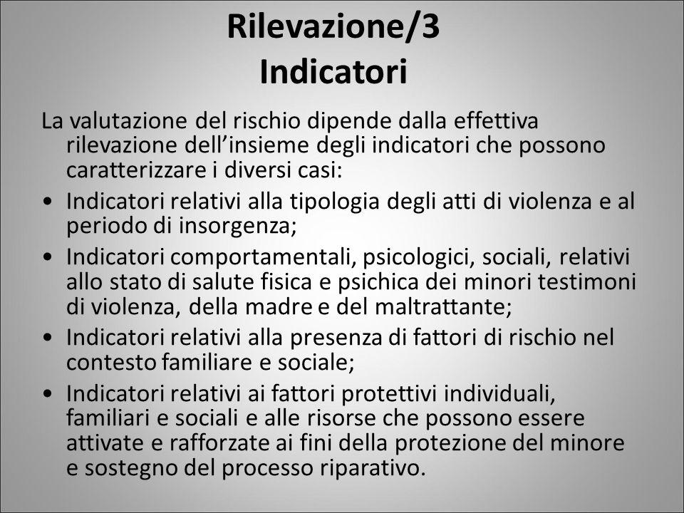 Rilevazione/3 Indicatori