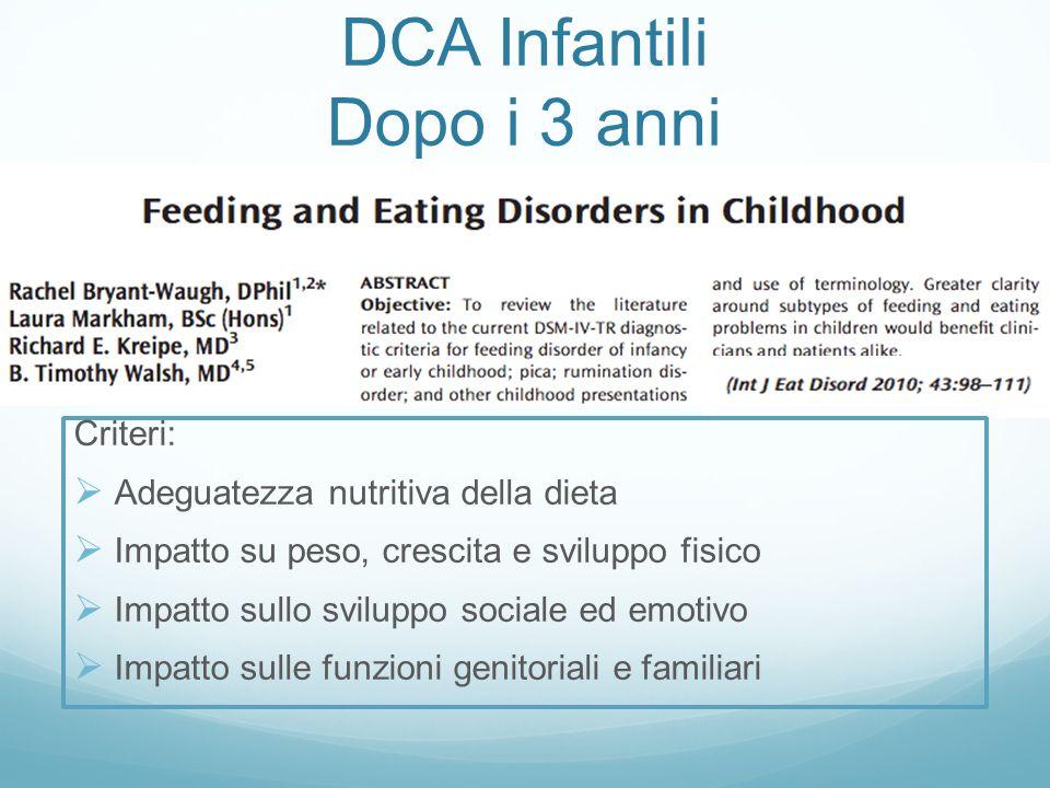DCA Infantili Dopo i 3 anni