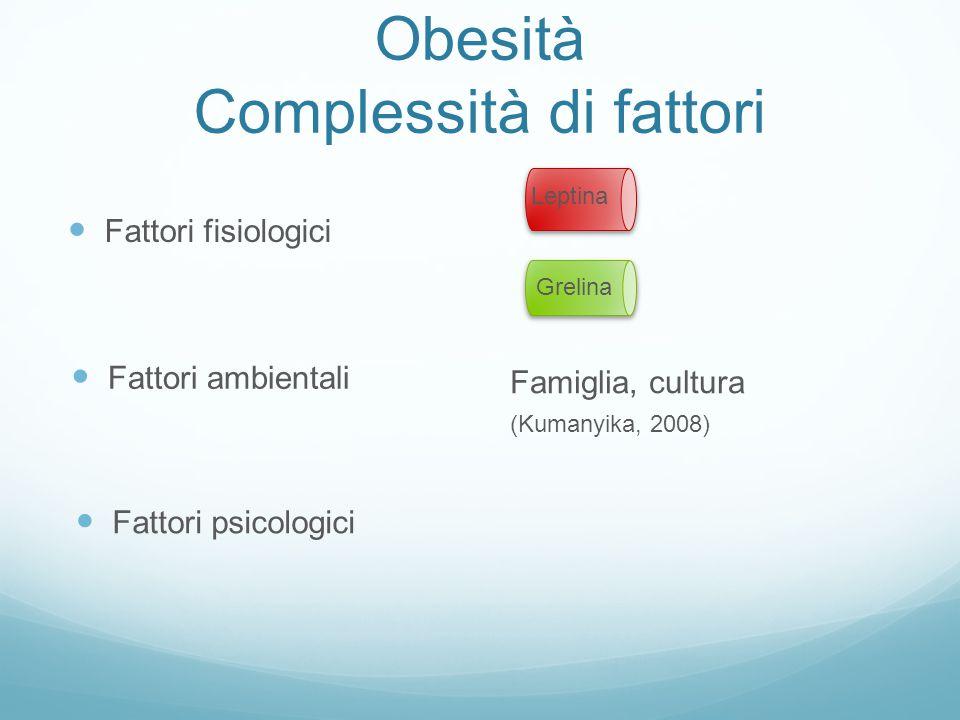 Obesità Complessità di fattori
