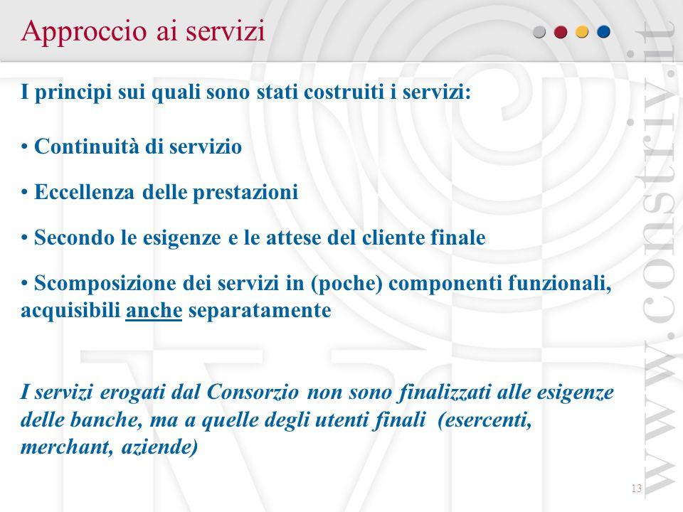 Approccio ai servizi I principi sui quali sono stati costruiti i servizi: Continuità di servizio. Eccellenza delle prestazioni.