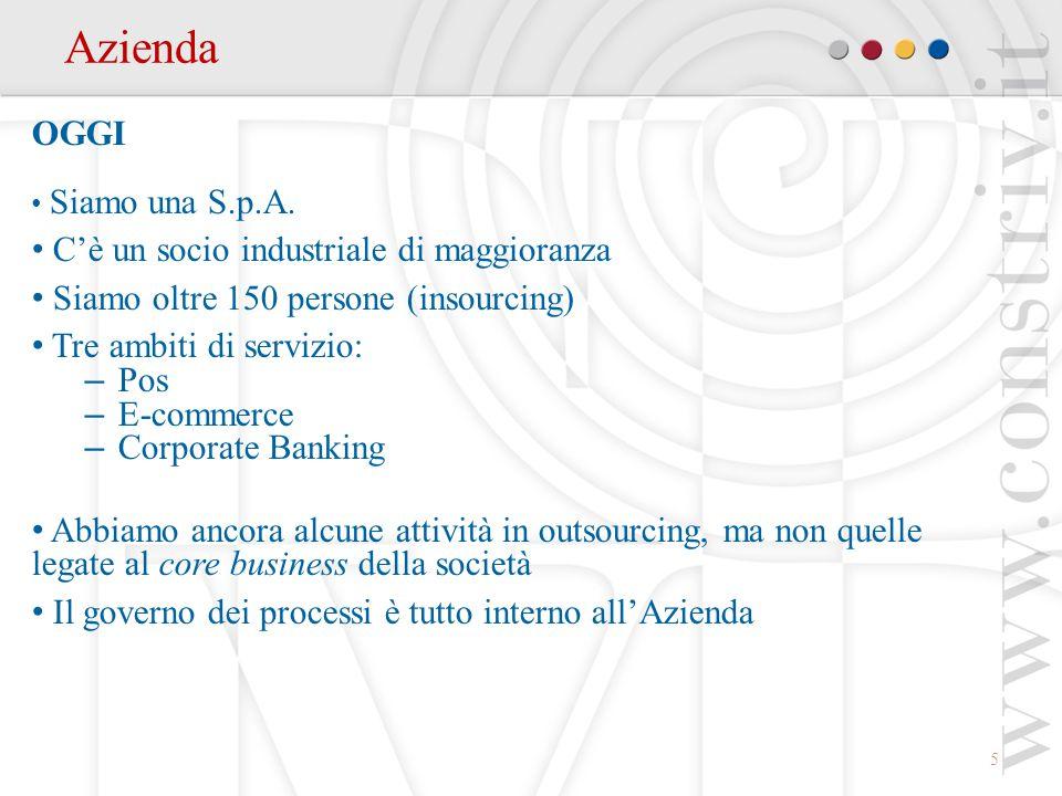 Azienda OGGI C'è un socio industriale di maggioranza