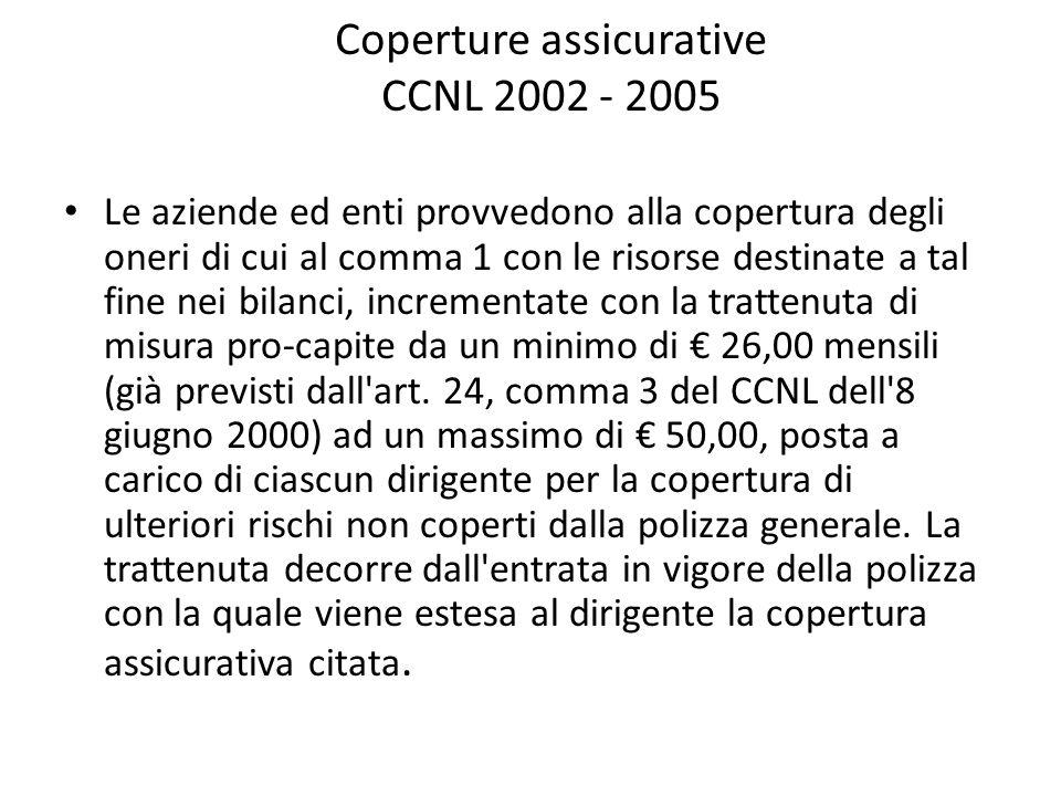 Coperture assicurative CCNL 2002 - 2005
