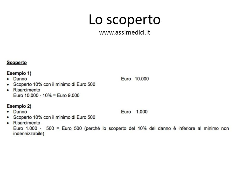 Lo scoperto www.assimedici.it