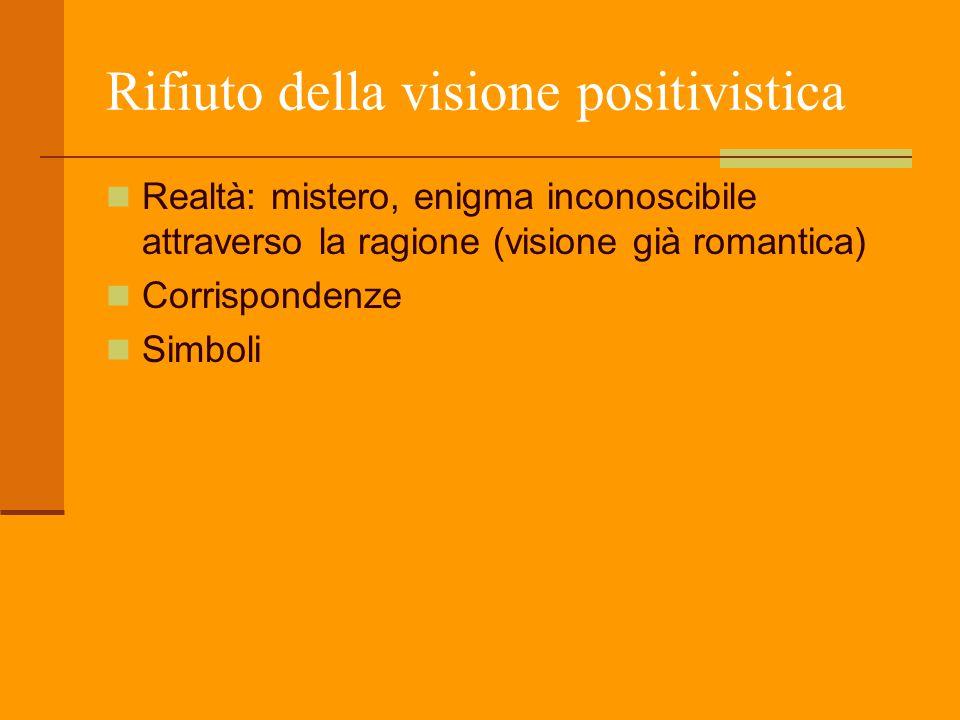 Rifiuto della visione positivistica