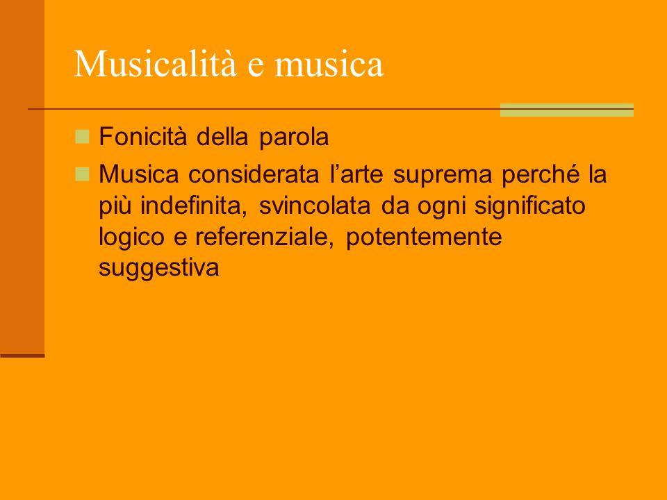 Musicalità e musica Fonicità della parola