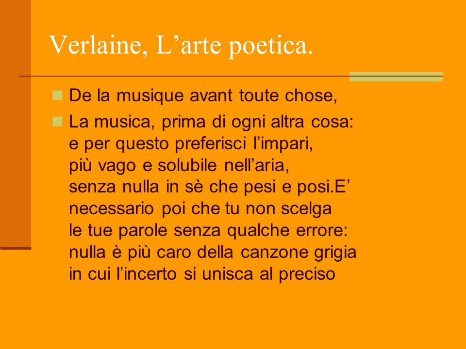 Verlaine, L'arte poetica.