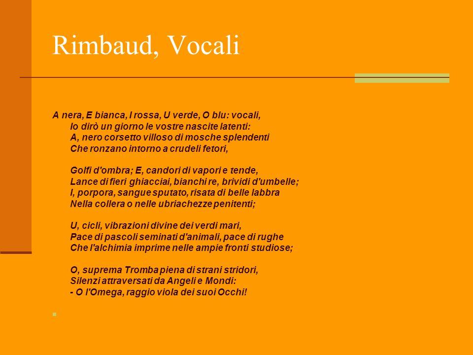 Rimbaud, Vocali