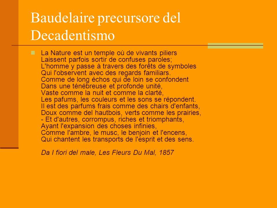 Baudelaire precursore del Decadentismo