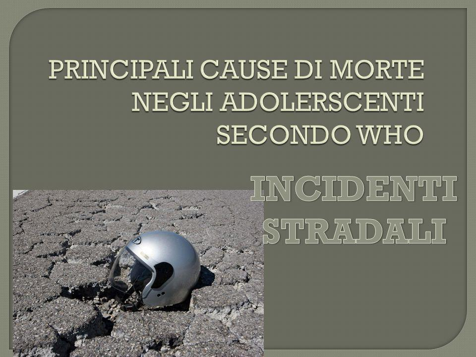 PRINCIPALI CAUSE DI MORTE NEGLI ADOLERSCENTI SECONDO WHO