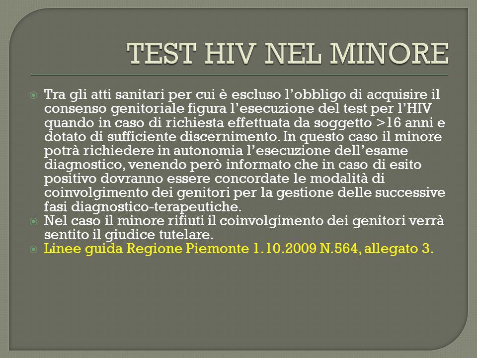 TEST HIV NEL MINORE