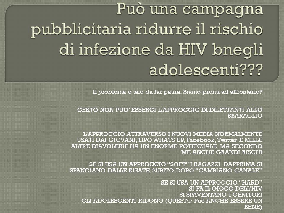 Può una campagna pubblicitaria ridurre il rischio di infezione da HIV bnegli adolescenti