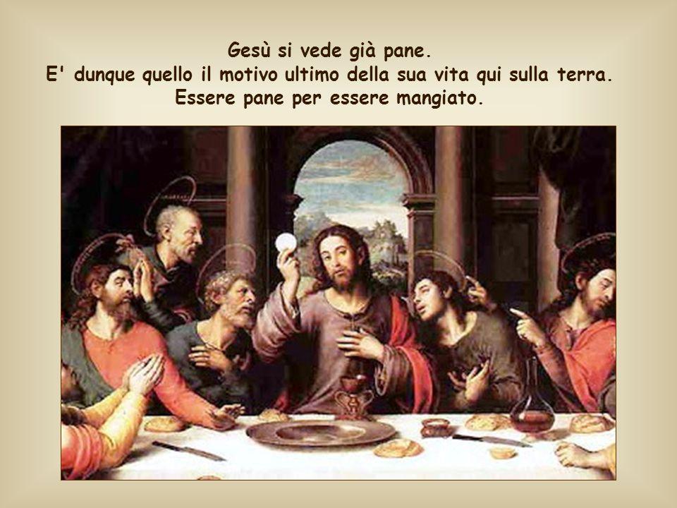 Gesù si vede già pane. E dunque quello il motivo ultimo della sua vita qui sulla terra.
