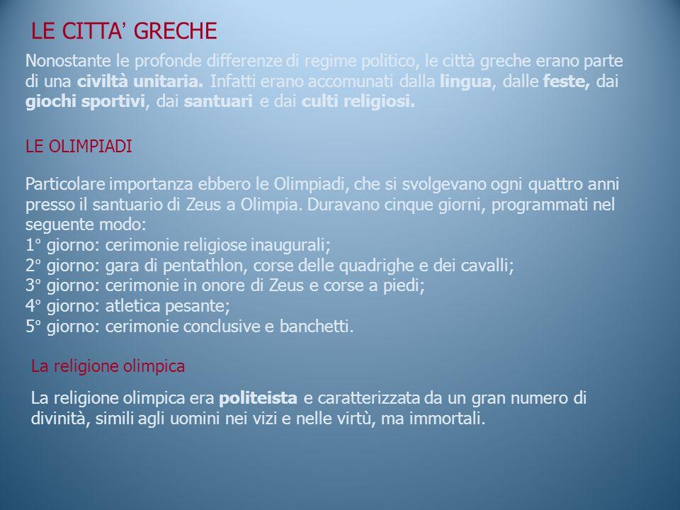 LE CITTA' GRECHE