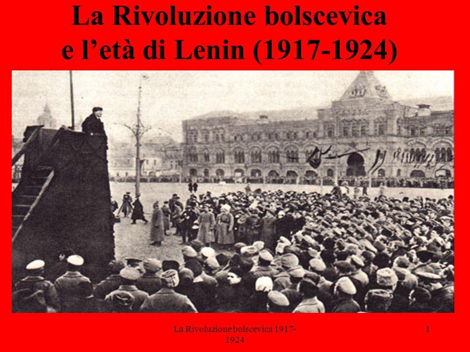 La Rivoluzione bolscevica e l'età di Lenin (1917-1924)