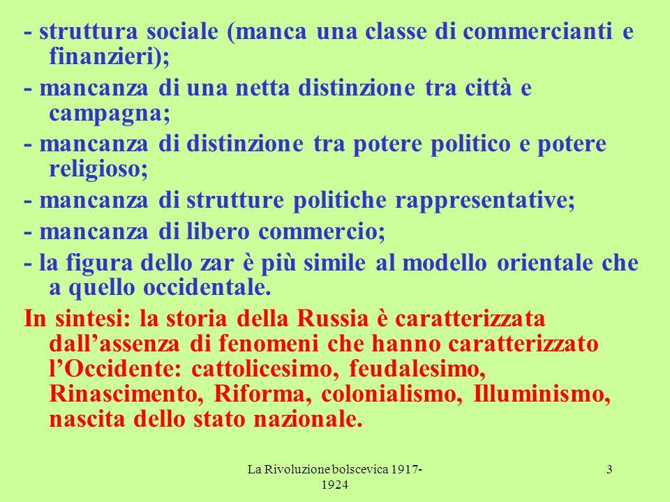 La Rivoluzione bolscevica 1917-1924