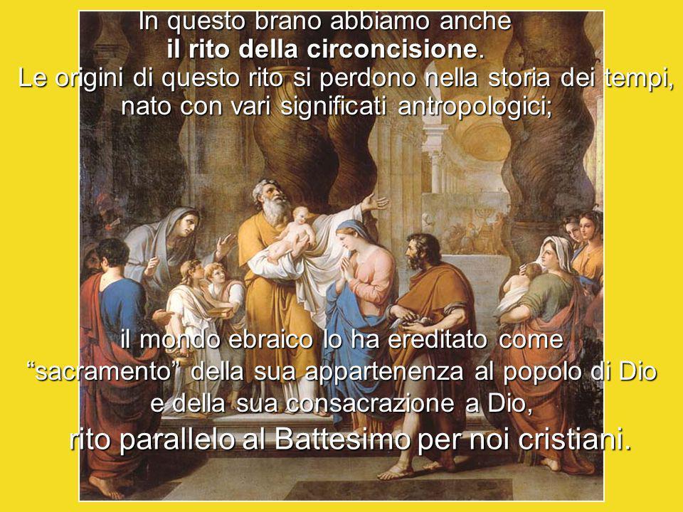 rito parallelo al Battesimo per noi cristiani.