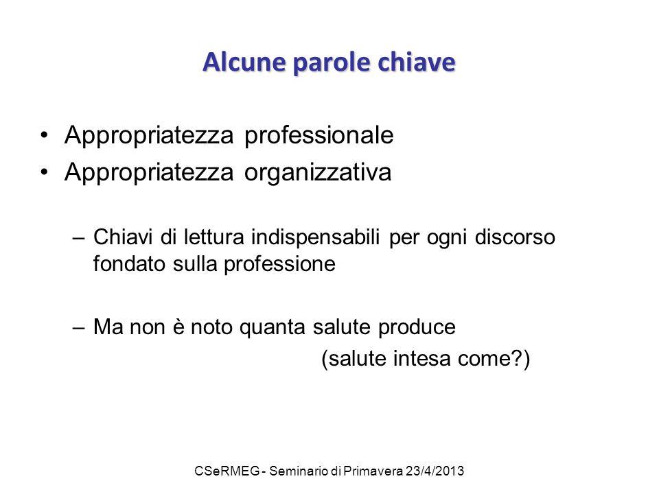 CSeRMEG - Seminario di Primavera 23/4/2013