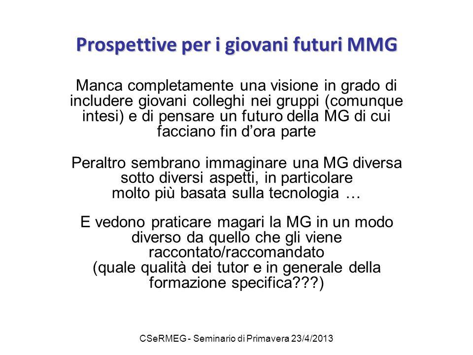 Prospettive per i giovani futuri MMG