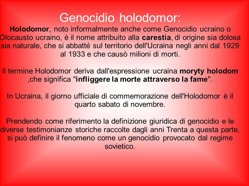 Genocidio holodomor: