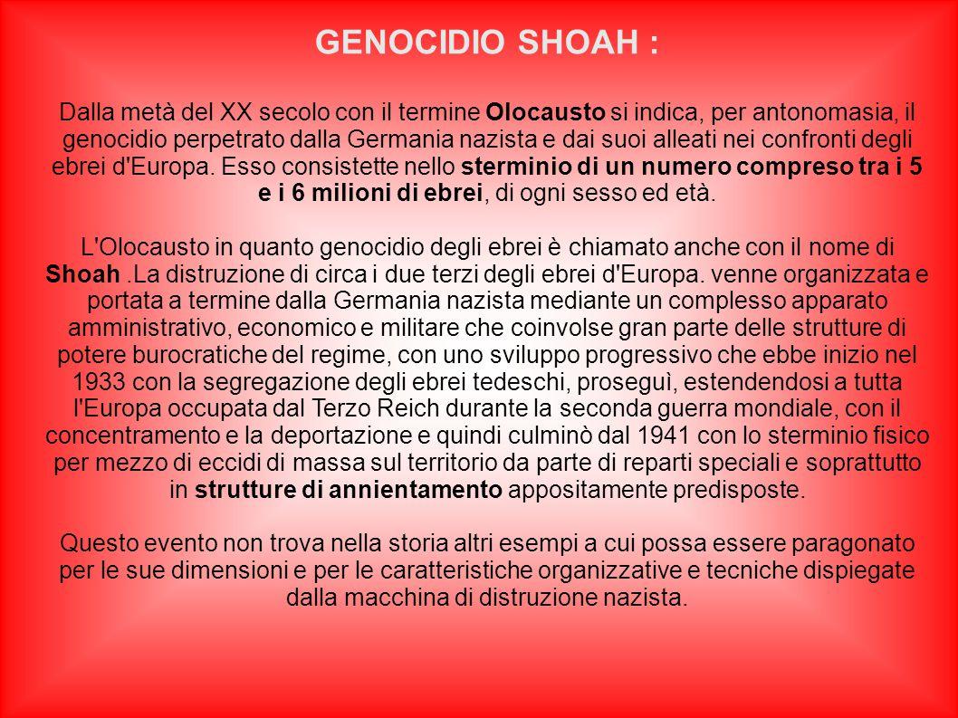 GENOCIDIO SHOAH :