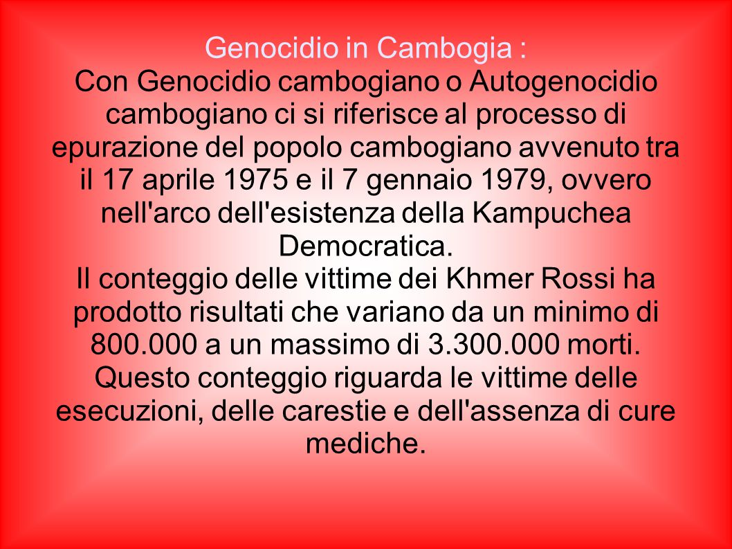 Genocidio in Cambogia :