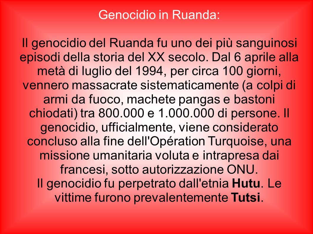 Genocidio in Ruanda: