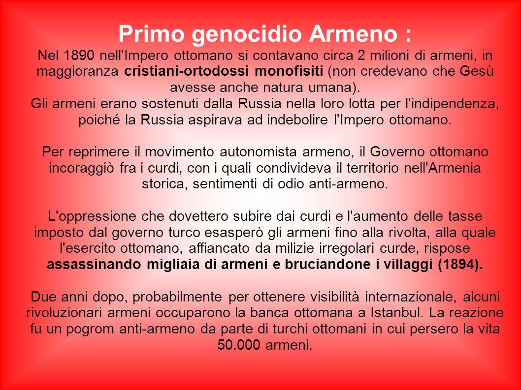 Primo genocidio Armeno :