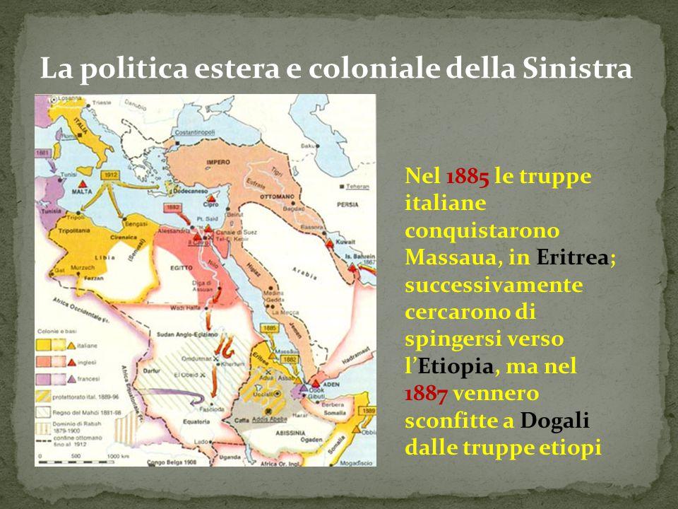 La politica estera e coloniale della Sinistra