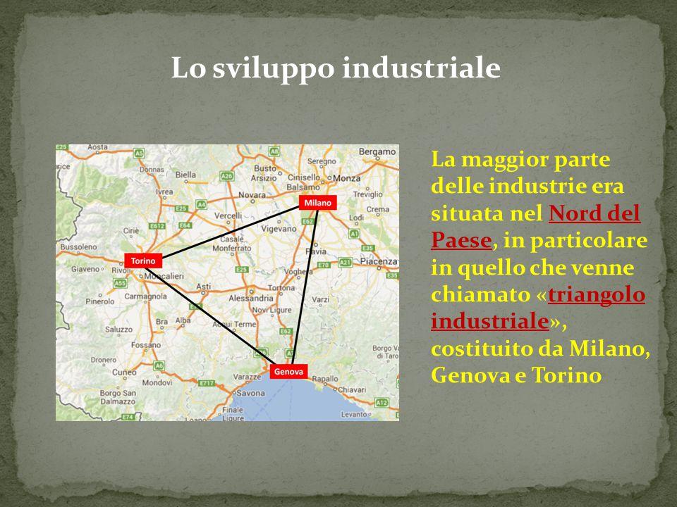 Lo sviluppo industriale