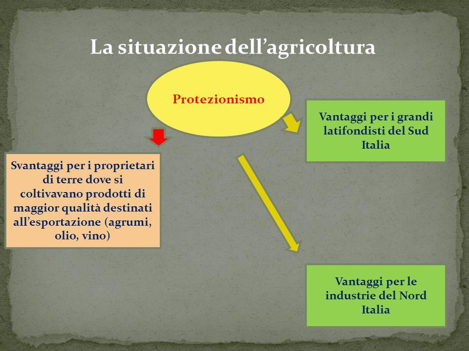 La situazione dell'agricoltura
