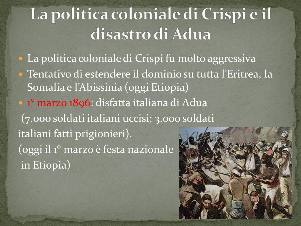 La politica coloniale di Crispi e il disastro di Adua