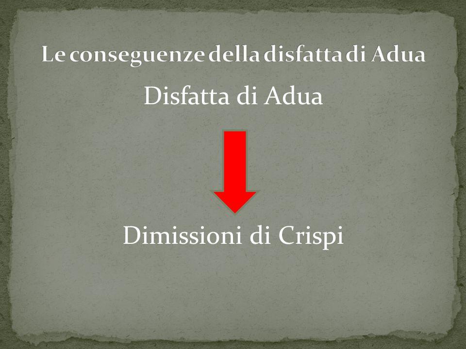 Le conseguenze della disfatta di Adua