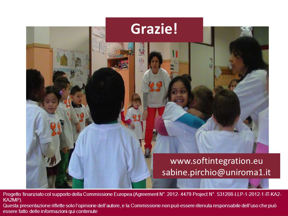 Grazie! www.softintegration.eu sabine.pirchio@uniroma1.it