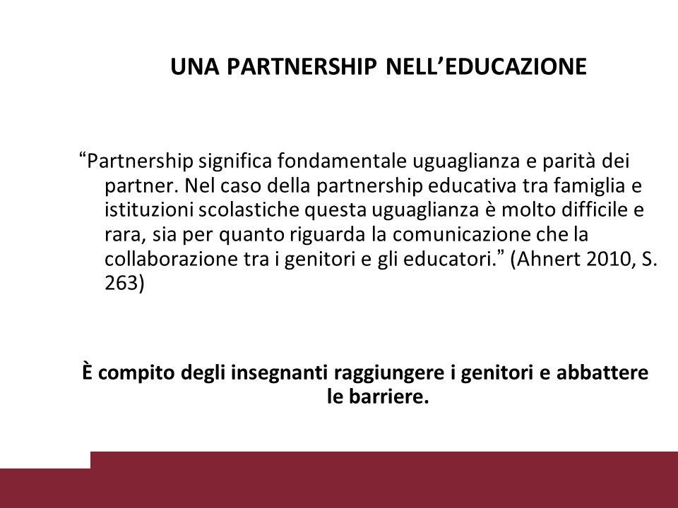 UNA PARTNERSHIP NELL'EDUCAZIONE