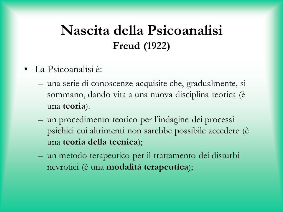 Nascita della Psicoanalisi Freud (1922)