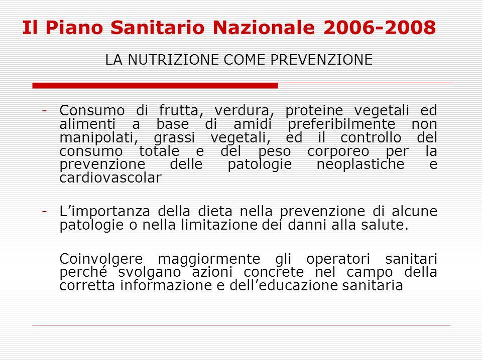 Il Piano Sanitario Nazionale 2006-2008