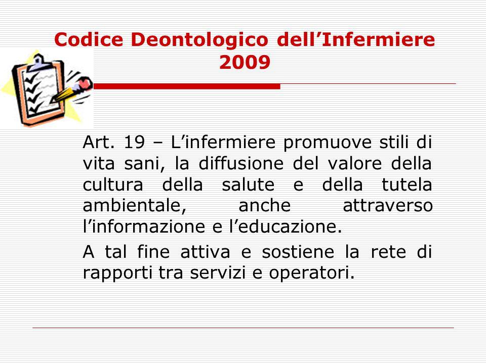 Codice Deontologico dell'Infermiere 2009