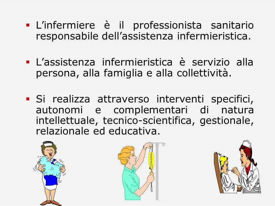 L'infermiere è il professionista sanitario responsabile dell'assistenza infermieristica.