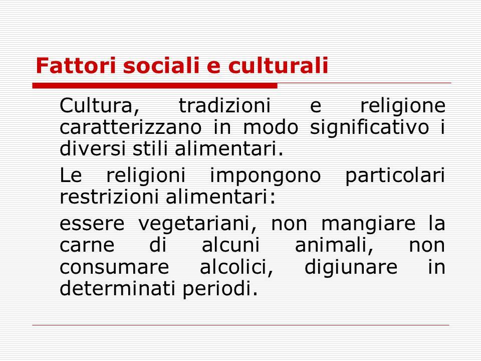 Fattori sociali e culturali