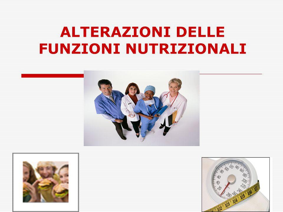 ALTERAZIONI DELLE FUNZIONI NUTRIZIONALI
