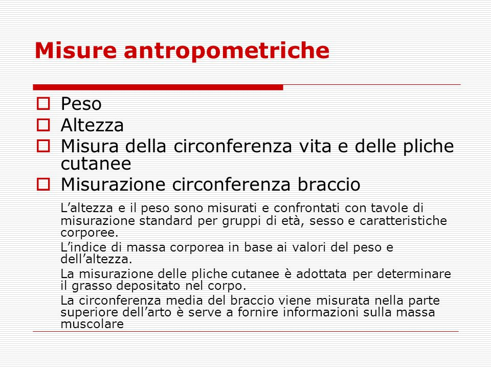 Misure antropometriche
