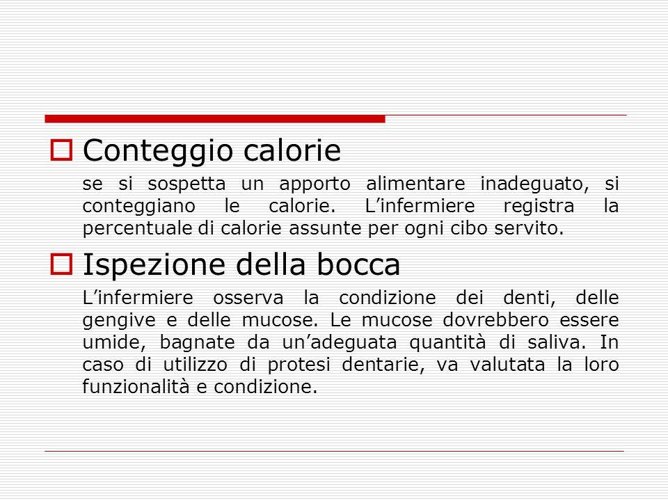 Conteggio calorie Ispezione della bocca