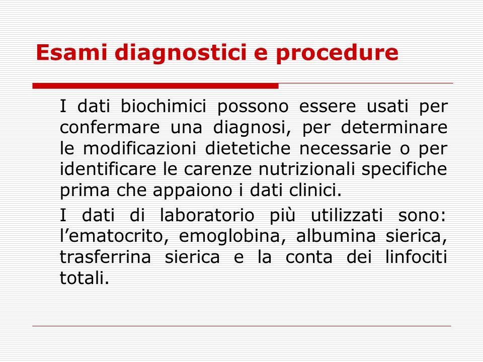 Esami diagnostici e procedure